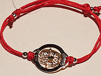 Браслет Хамса (Рука Фатимы) из текстиля с серебряными вставками. Артикул  805-00714-15