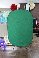 Фон на пружине 7 в 1 120х180см Зеленый ( Chroma Key ) ( в магазине )