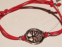 """Браслет """"Древо жизни"""" из текстиля с серебряными вставками. Артикул  805-00711-15"""
