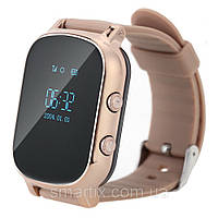 Подростковые умные смарт часы Smart watch T58 с GPS трекером для отслеживания (золото) Харьков