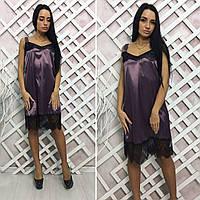 Женское платье без рукавов из стрейч атласа