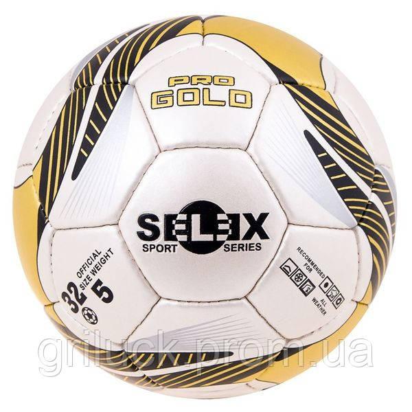 Мяч футбольный бело-желтый Selex