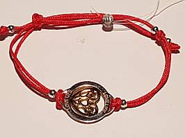 Браслет з текстилю з срібними вставками. Артикул 805-00713-15