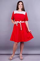 Дакота. Платье больших размеров. Красный., фото 1