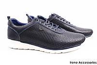Мужские туфли Armani натуральная кожа цвет синий (мокасины мужские, кроссовки, комфорт, платформа, Турция)