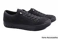 Мужские туфли Ridge нубук цвет черный (мокасины мужские, спортивный стиль, комфорт, платформа, Турция)