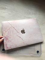 """Дизайнерский розовый мраморный чехол для MacBook Pro 13"""" 2016 (Touch Bar)"""