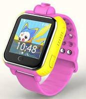 Детские умные смарт часы Smart Baby Watch Q200 с камерой, 3G и GPS трекером (розовые) Харьков