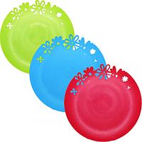 Тарелка резная,27см, 3 цвета Микс Flex 90810
