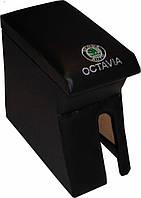 Подлокотник Skoda Octavia Tour черный с вышивкой