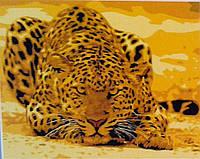 "Раскраски по номерам На холсте ""Леопард причаївся"" КНО305 Идейка Китай"