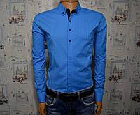 Мужская рубашка голубая Турция 5036