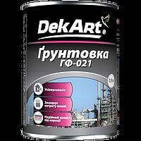"""Грунтовка ГФ-021  0,9 кг серая ТМ """"DekArt"""""""