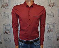 Мужская рубашка бордовая Турция 5034