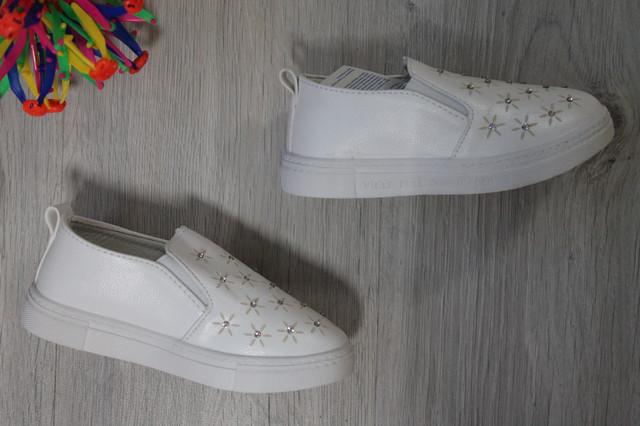 белые слипоны для девочки style-baby.com