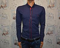 Мужская рубашка темно синяя Турция 5025