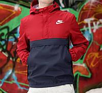 Мужская анорак бордовый 3095