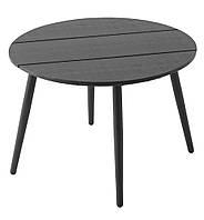 Садовый столик круглый черный (диаметр 65 см)