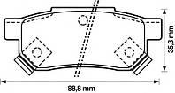 Тормозные колодки HONDA ACCORD (CA4, CA5) 2.0 11/1985-12/1989 дисковые задн., Q-TOP (Испания) QE0902E