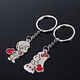 """Подвійний брелок для ключів """"Закохані"""", фото 2"""