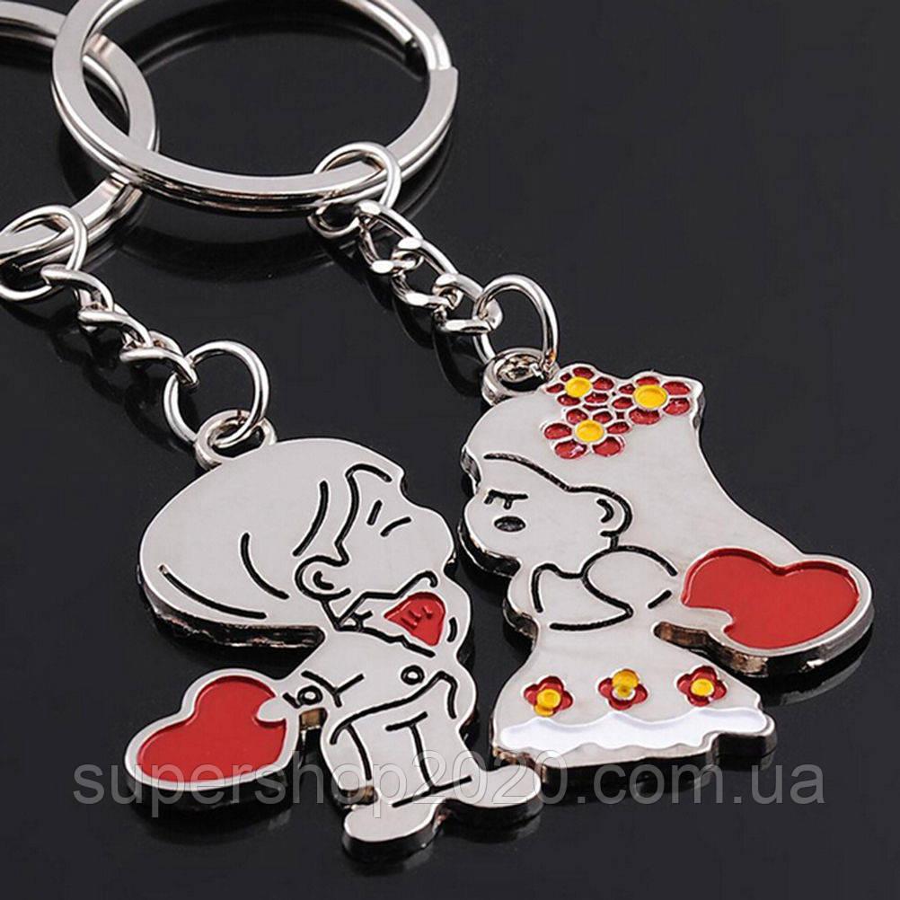 """Подвійний брелок для ключів """"Закохані"""""""