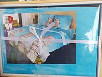 """Набор постельный """"Restline"""" 3D, микросатин, евростандарт, архитектура"""