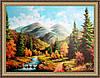 Картина в багетной раме Горный пейзаж 500х700мм №336