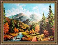 Картина Горный пейзаж 500х700мм №399