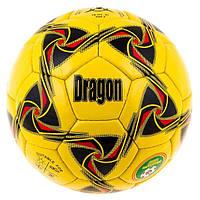 Мяч футбольный желтый Dragon
