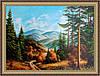 Картина в багетной раме Горный пейзаж 500х700мм №344
