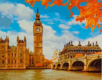 "Раскраски по номерам На холсте ""Осінній Лондон"" КНО2134 Идейка Китай"