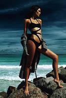 Женский купальник-монокиди черного цвета. Материал плотный бифлекс. Размер 42,44.