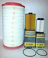 Комплект фильтров № 2 МАН ТГА Евро 3 (MAN TGA) воздушный, масляный, топливный