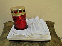 Статуя Матерь Божья подсвечник бетон