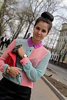 Яркая женская рубашка трехцветная
