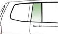 Автомобильное стекло задней форточки неподвижное правое зеленое RENAULT SANDERO 5Д ХБ 08-7276RGSH5RV