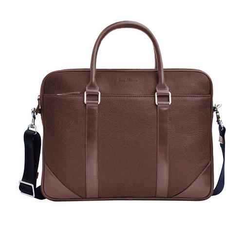 68f009dd20cb Мужской портфель из натуральной кожи коричневый/черный вместительный ручной  работы