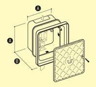 Пластиковый корпус для контрольного фасадного соединения