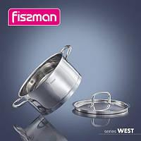 5253 Fissman Каструля WEST 25x10 см / 3,1 л зі сталевою кришкою (нерж. сталь)