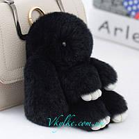 Брелок кролик черный, фото 1