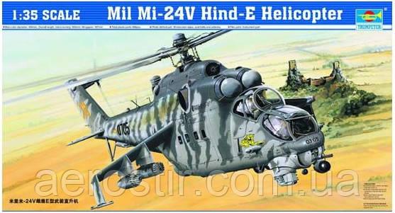 Mil Mi-24V Hind-E Helicopter 1/35 TRUMPETER 05103