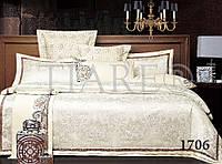 "Комплект постельного белья ""Viluta"" Tiare сатин-жаккард (+4 наволочки) Евро Вилюта № 1706"