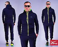 Мужской спортивный костюм 7 дипломат+салатовая молния