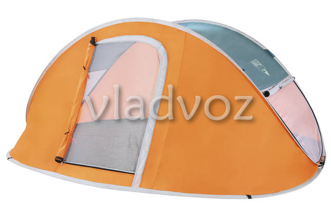 Палатка Nucamp оранжевая двух местная с чехлом, фото 2