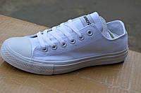 Мужские кеды низкие копия converse all star белые, фото 1
