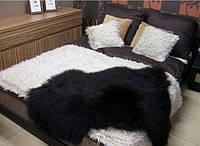 Шкура овечья черная и и желтая