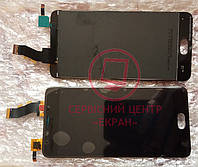 Дисплей модуль Meizu U10 в зборі з тачскріном, чорний