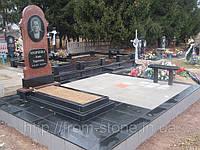 Одинарный памятник из красного камня ОД - 004