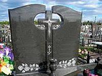 Памятник для двоих с крестом Д - 004