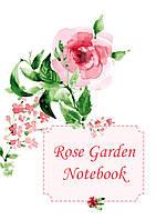 Блокнот 80 листов на боковой пружине Сад роз